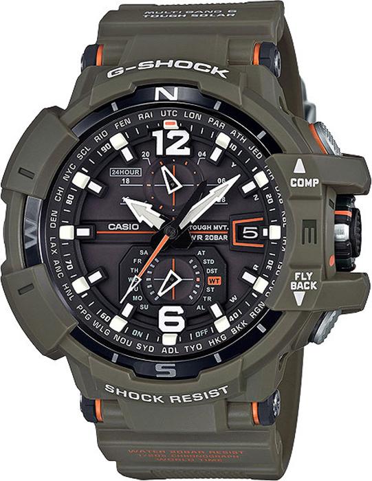 Наручные часы мужские Casio G-Shock, цвет: хаки. GW-A1100KH-3A