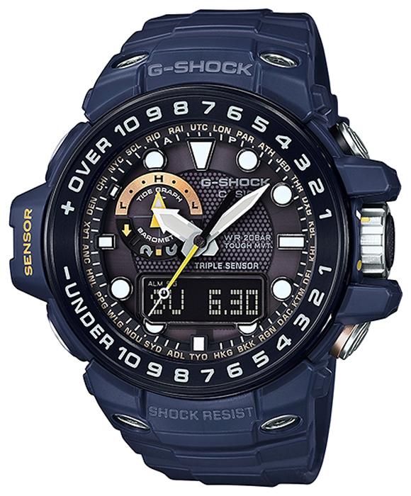 Наручные часы мужские Casio G-Shock, цвет: синий, черный. GWN-1000NV-2A все цены