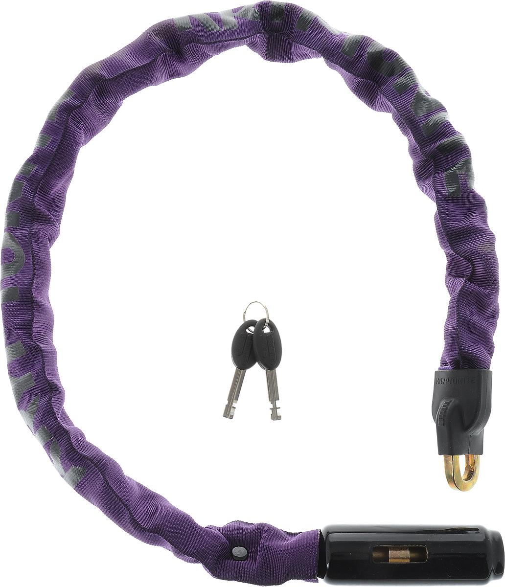 Замок велосипедный Kryptonite Chains Keeper 785 Integrated Chain, цвет: фиолетовый, черный