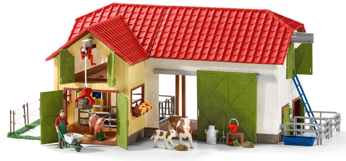 Schleich Игровой набор Большая ферма с животными и аксессуарами