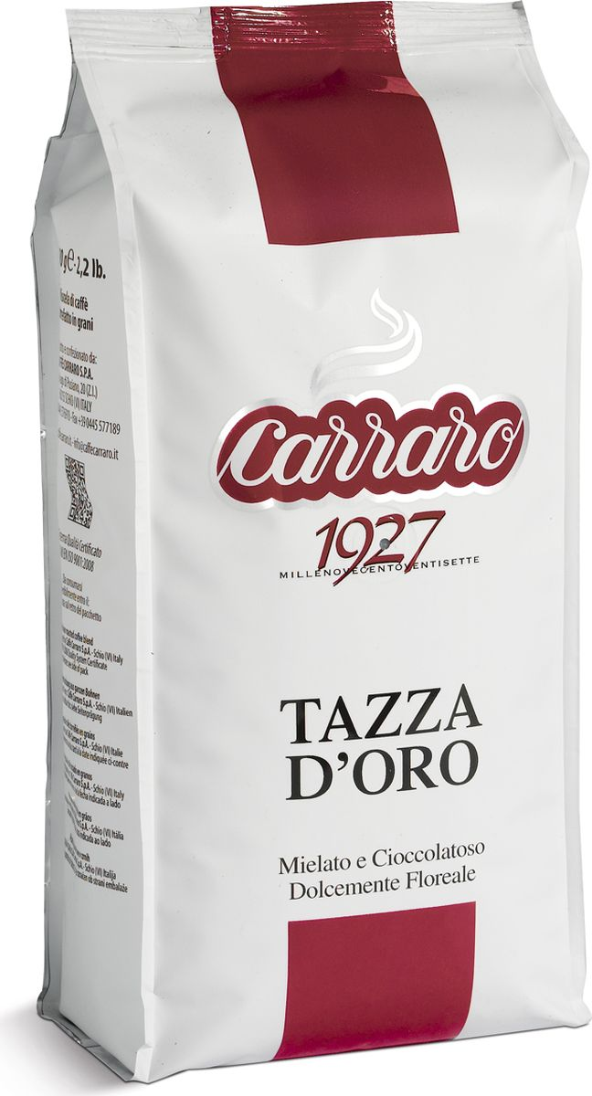 Carraro Tazza D'Oro кофе в зернах, 1 кг кофе в зернах nivona craft 1 кг