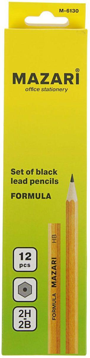 Mazari Набор чернографитных карандашей Formula 12 шт derwent набор чернографитных карандашей sketching 4 шт