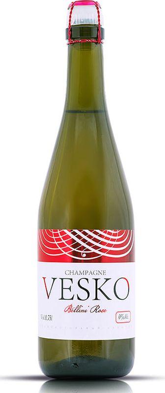 Vesko Bellini Rose безалкогольное шампанское, 0,75 л vesko cola лимонад 0 5 л