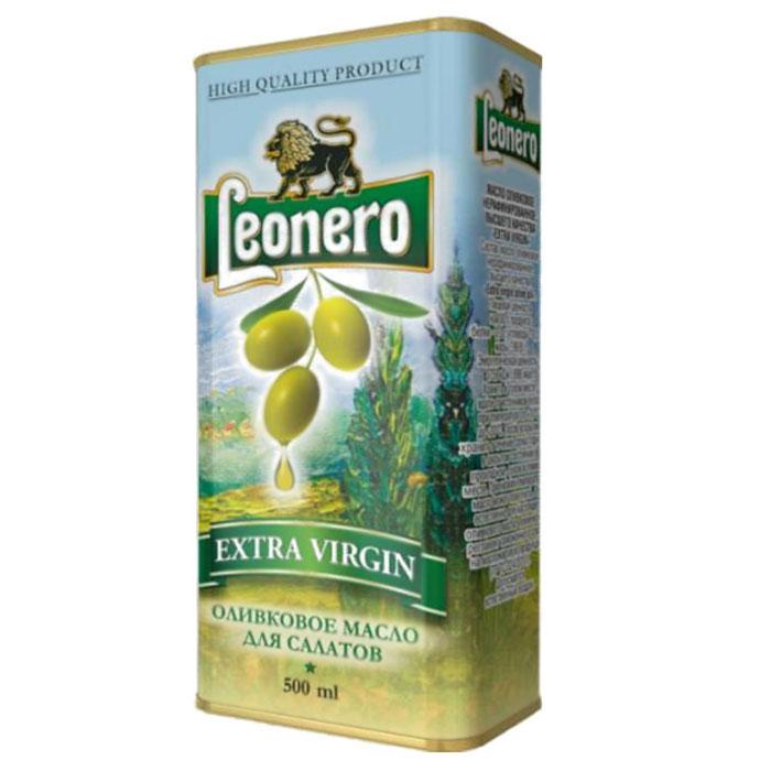 Leonero оливковое масло нерафинированное для салатов, 500 г leonero оливковое масло рафинированное для жарки 500 г