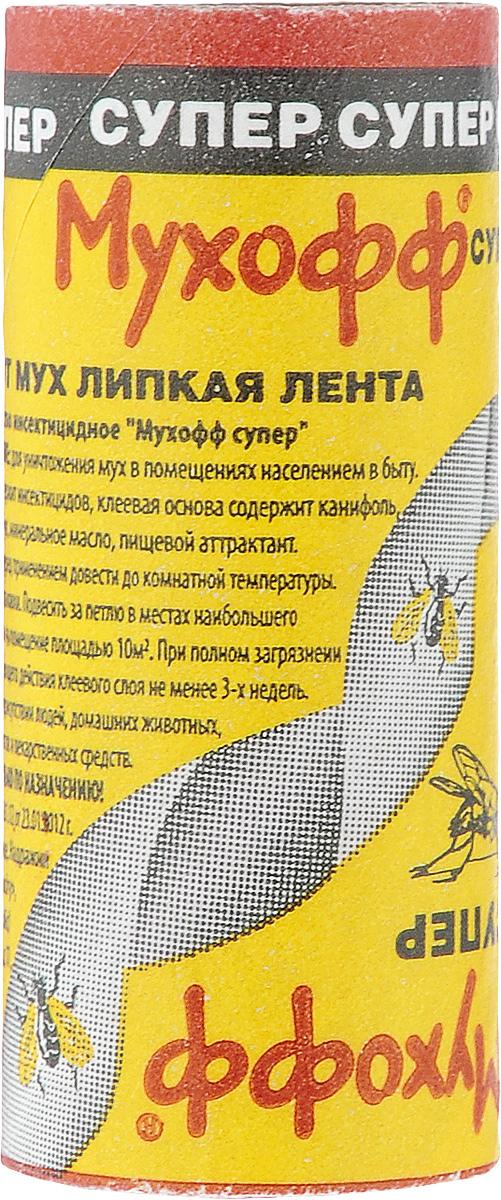 Липкая лента от мух Мухофф Супер черви от мух на собаке