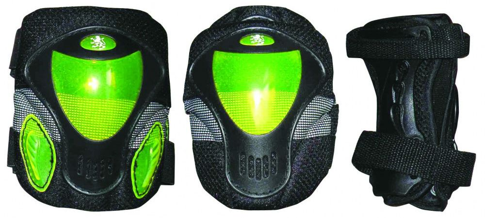 цена на Защита роликовая Larsen P9B, цвет: зеленый. Размер M