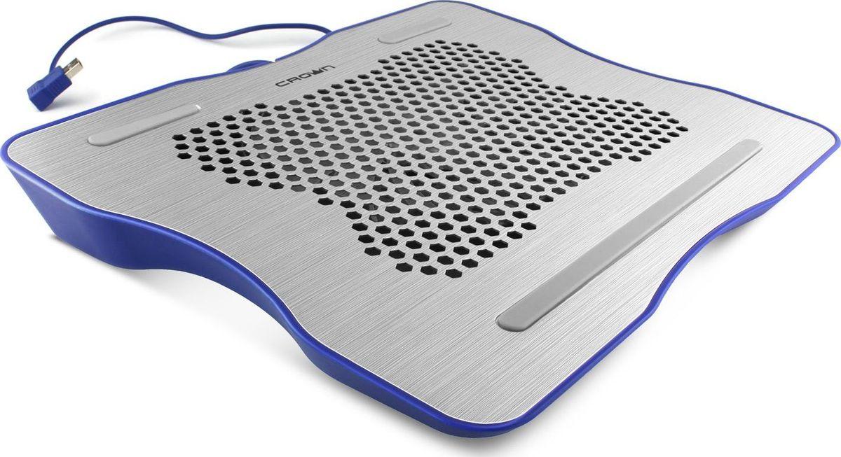 Crown Micro CMLC-1001, Silver Blue охлаждающая подставка для ноутбука 15,6 кулер для ноутбука