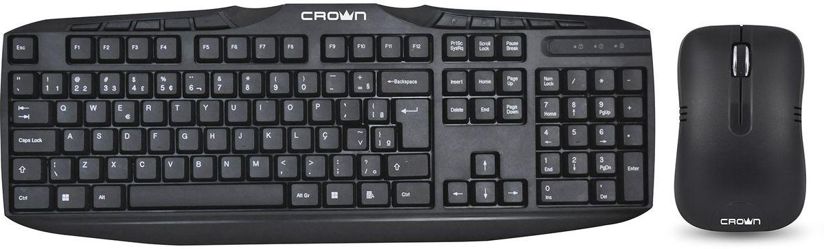Комплект мышь + клавиатура Crown Micro CMK-952, Black недорго, оригинальная цена