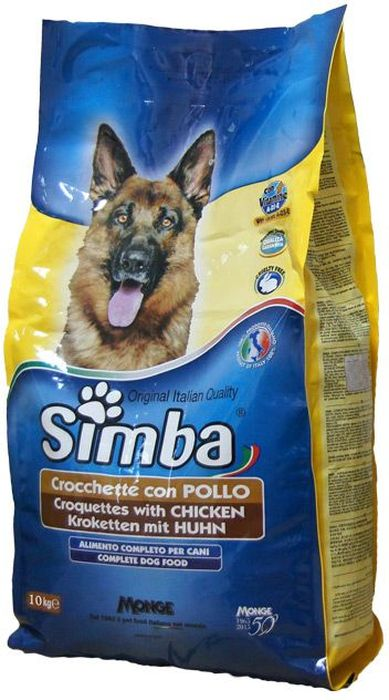 "Корм сухой Monge ""Simba Dog"", для собак, с курицей, 10 кг"