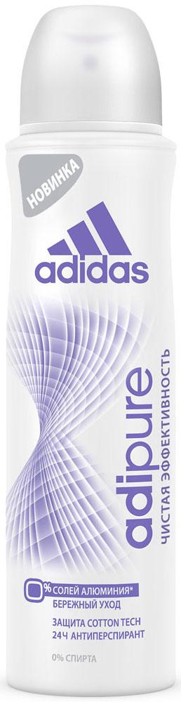 Adidas Дезодорант-антиперспирант спрей Adipure 24 ч, женский, 150 мл adidas дезодорант антиперспирант спрей cool