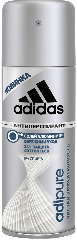 Adidas Дезодорант-антиперспирант спрей Adipure 24 ч, мужской, 150 мл