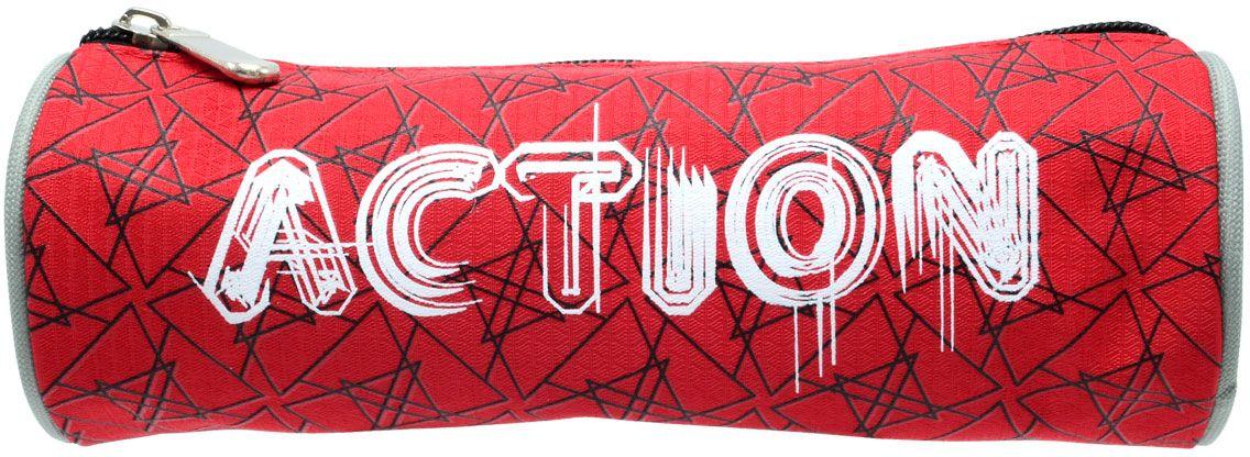 Action! Пенал цвет красный action пенал тубус action