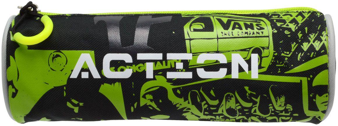 Action! Пенал цвет черный зеленый action пенал тубус action