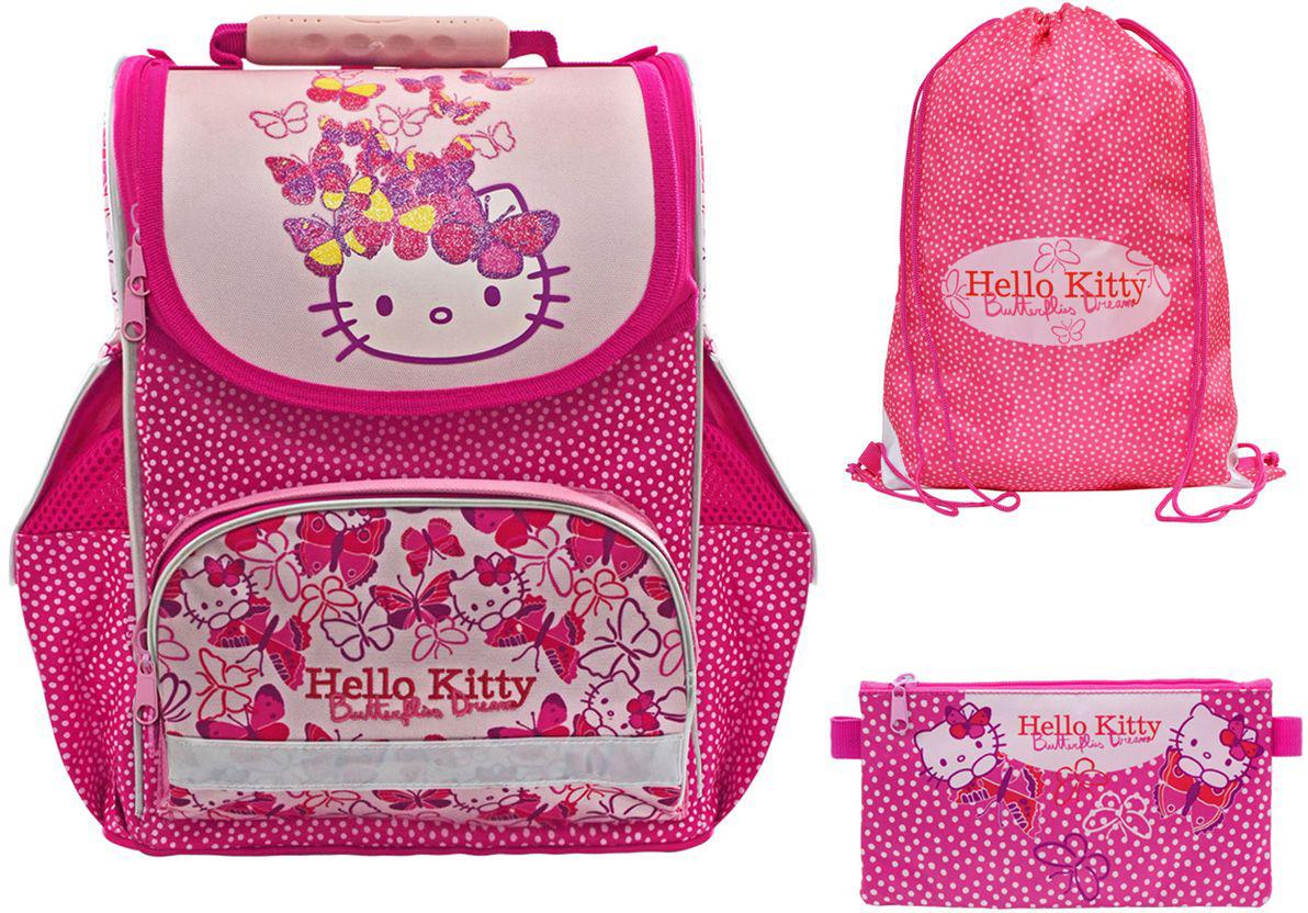 Action! Ранец школьный Hello Kitty с наполнением 2 предмета цена и фото