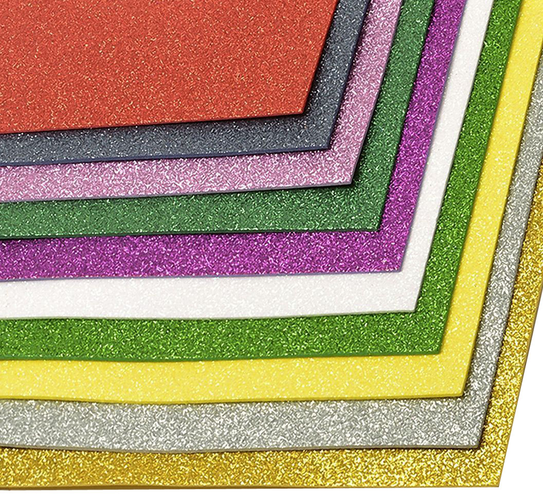 Набор глиттерного фоамирана Magic Hobby, 2 мм, 20 х 30 cм, 10 шт. MG.GLIT.ASSOR.1 набор махрового фоамирана magic hobby 2 мм 20 х 30 cм 10 шт mg tow assor 2