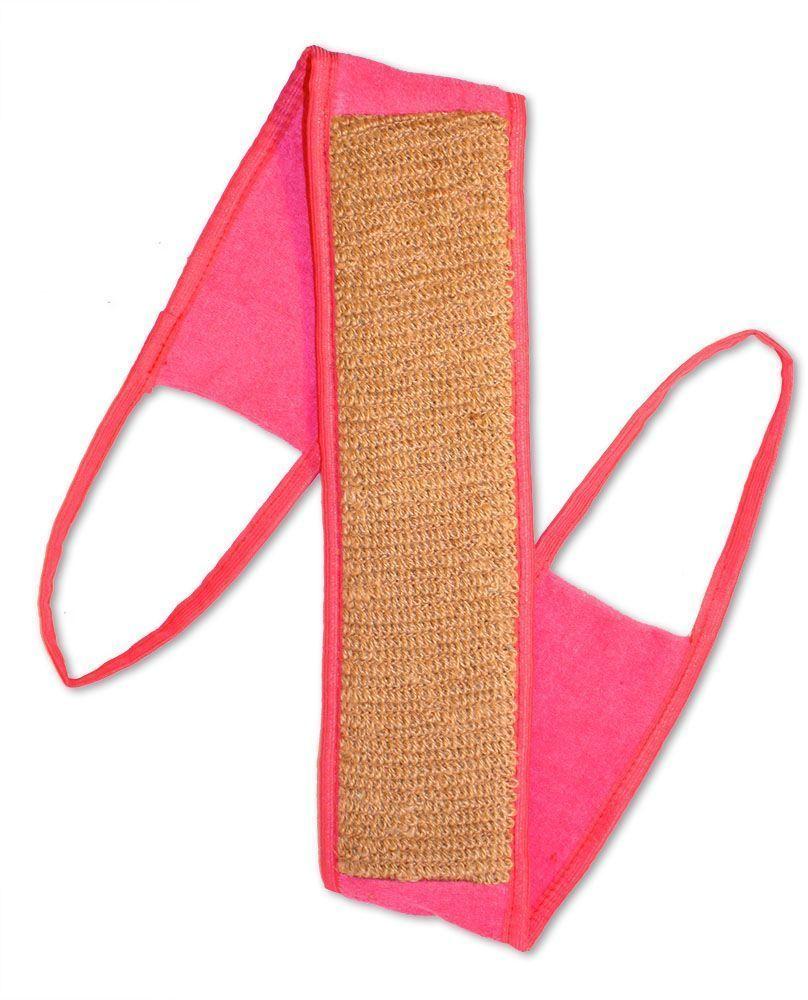 Мочалка Eva Ladies, с ручками, цвет: розовый, 9 х 72 см мочалка eva букле полосы вязаная с ручками цвет розовый