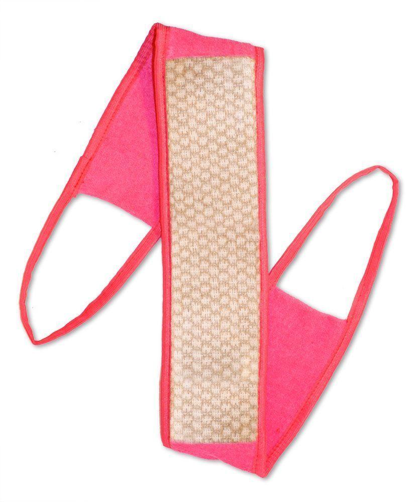 Мочалка Eva Ladies, с ручками, цвет: розовый, 9 х 72 см. М2522 мочалка eva букле полосы вязаная с ручками цвет розовый