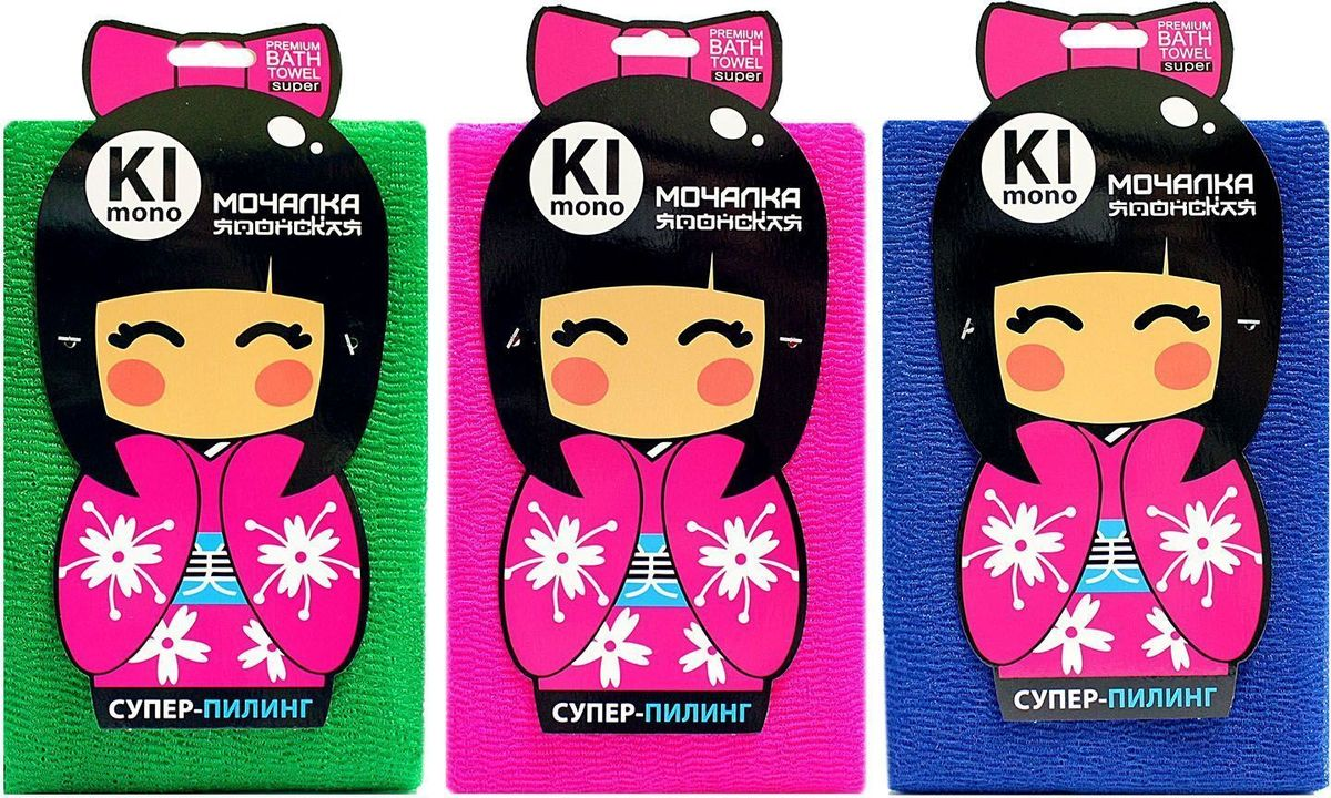 Мочалка-полотенце Eva Kimono, М3413, в ассортименте мочалка полотенце eva м3411