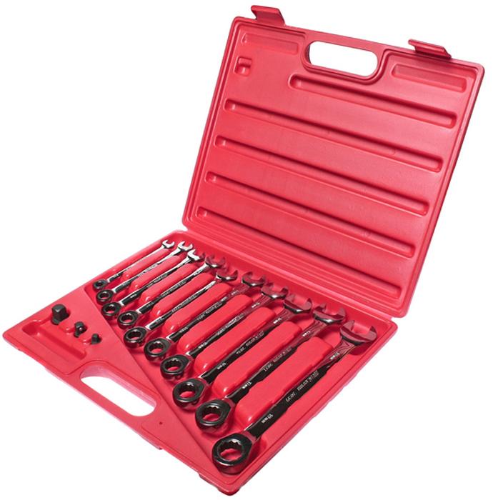 JTC Набор ключей комбинированных трещоточных 8-19мм, 13 предметов. JTC-3028