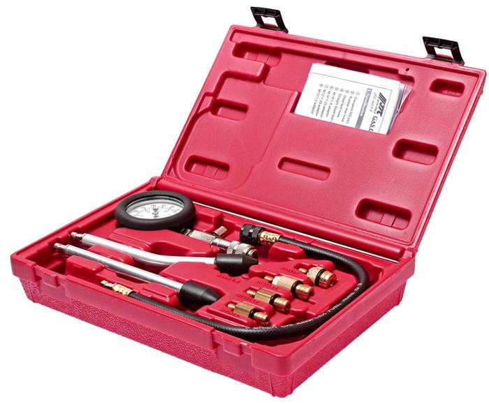 Компрессометр для бензиновых двигателей JTC, с набором адаптеров. JTC-4077