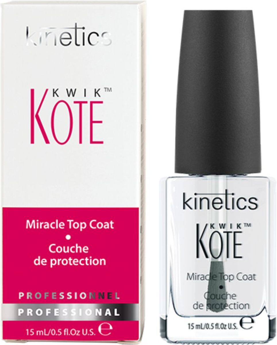 Kinetics Быстросохнущее верхнее покрытие Kwik Kote Miracle Top Coat, 15 мл