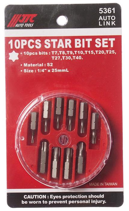 Набор вставок JTC TORX, 1/4DR, T7-T40, 10 предметов. JTC-5361 t40 t60 6 jtc 5356