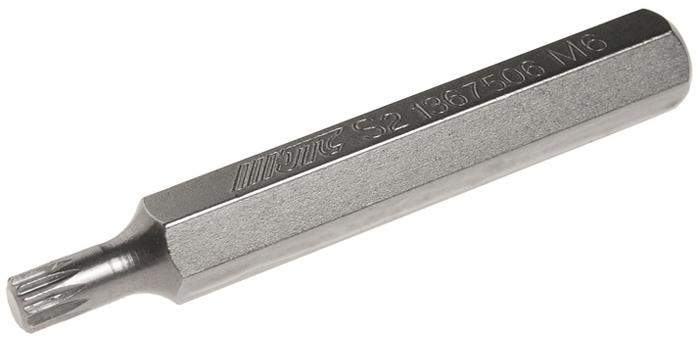 Вставка JTC, удлиненная, 10 мм, SL, М6х75. JTC-1367506 бита jtc spline удлиненная м14х75 мм 10 мм jtc 1367514