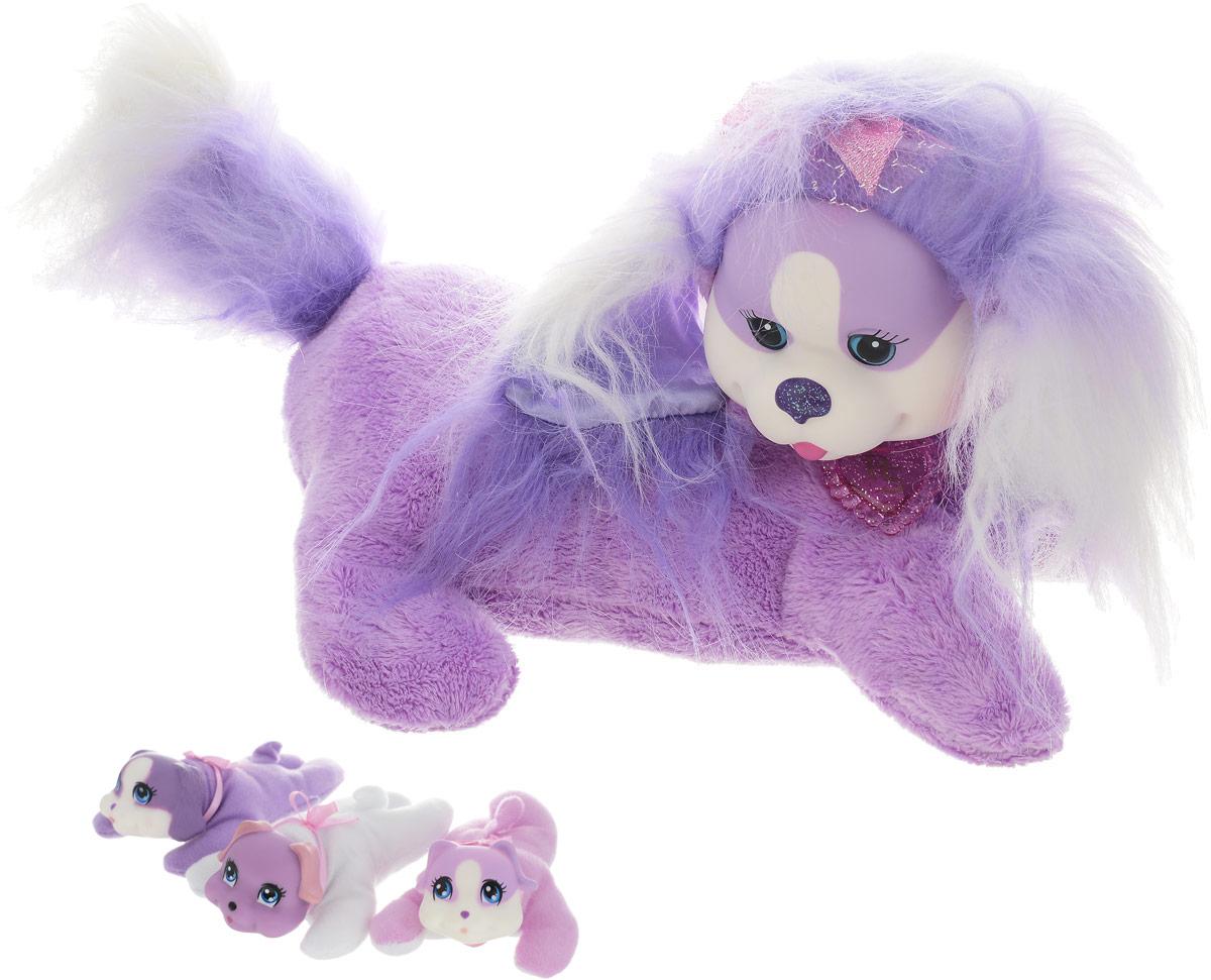 цена на Just Play Мягкая игрушка Собачка Кэнди и ее щенки
