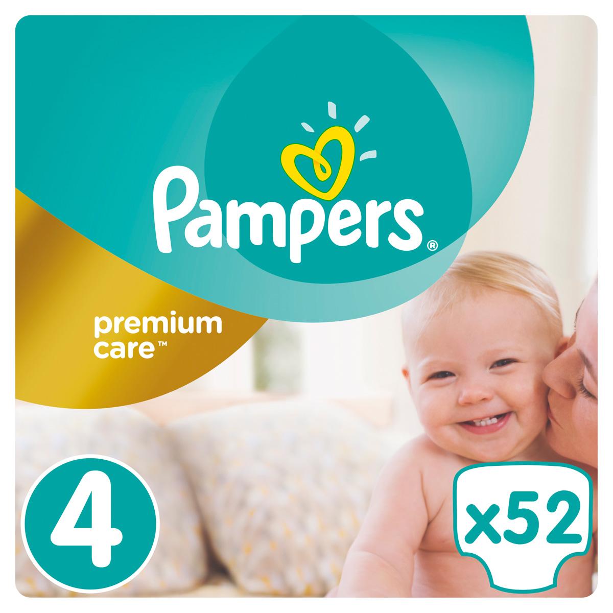 Pampers Premium Care Подгузники 4, 7-18 кг, 52 шт