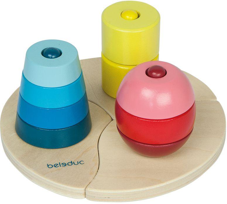 Beleduc Развивающая игрушка Три пирамидки цены