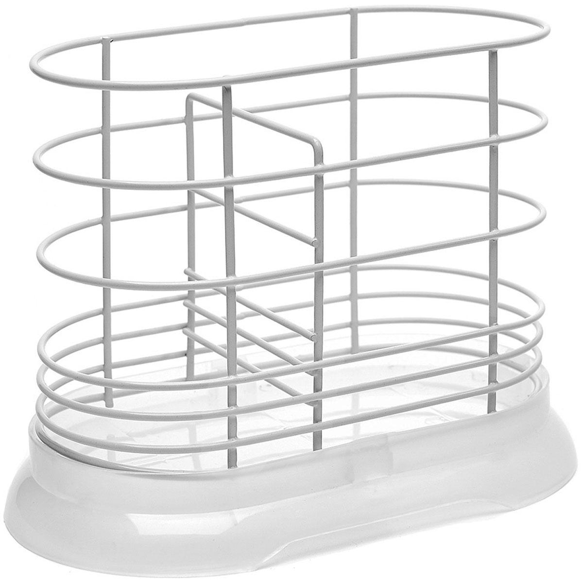 """Подставка для столовых приборов """"Walmer"""", цвет: белый, 16 x 8,5 x 13,5 см"""