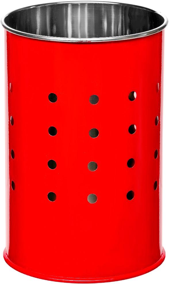 Подставка для столовых приборов Walmer Holly, цвет: красный, серый, 10 х 10 х 15 см подставка для столовых приборов kesperd с ручками цвет коричневый 38 х 32 х 4 см