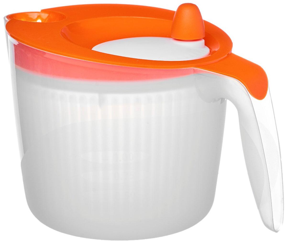 "Сушилка для салата Walmer ""Rainbow"", цвет: оранжевый, 1,8 л"