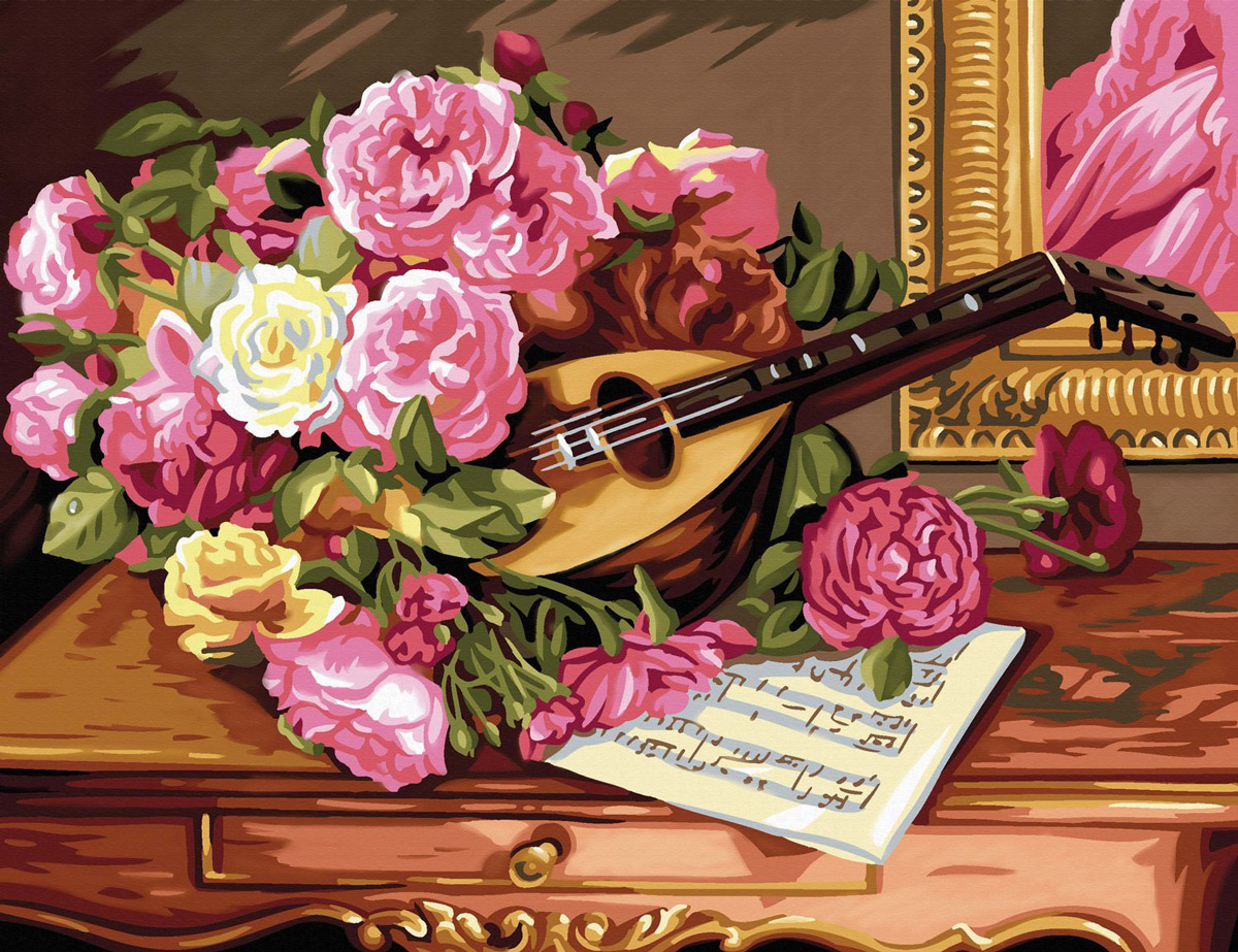 Монитором, музыкальные розы открытки