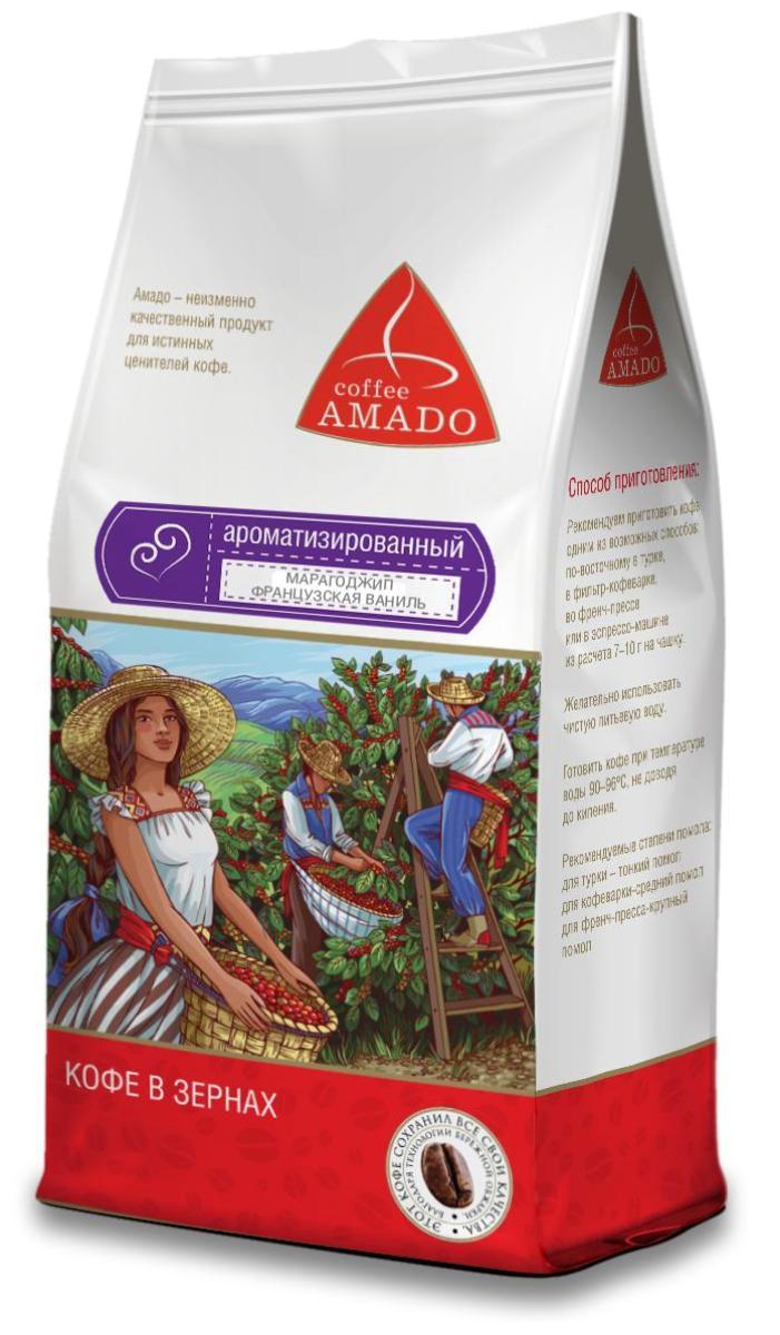 Amado Марагоджип Французская ваниль кофе в зернах, 500 г цена