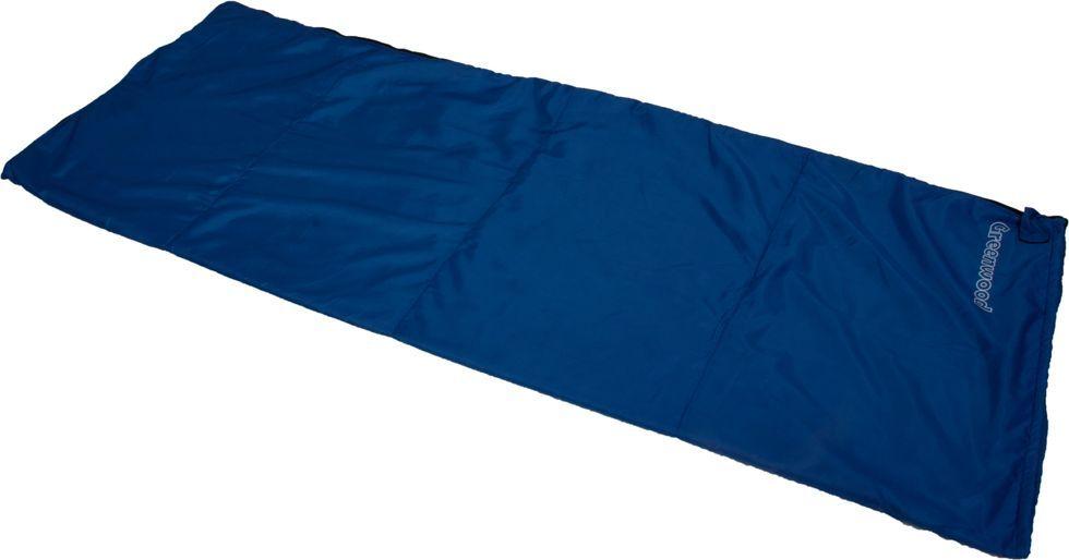 Спальный мешок Greenwood RS FLEECE, левосторонняя молния, цвет: синий, 190 х 75 см
