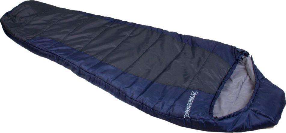 Спальный мешок Greenwood RS FS-1012, левосторонняя молния, цвет: синий, серый