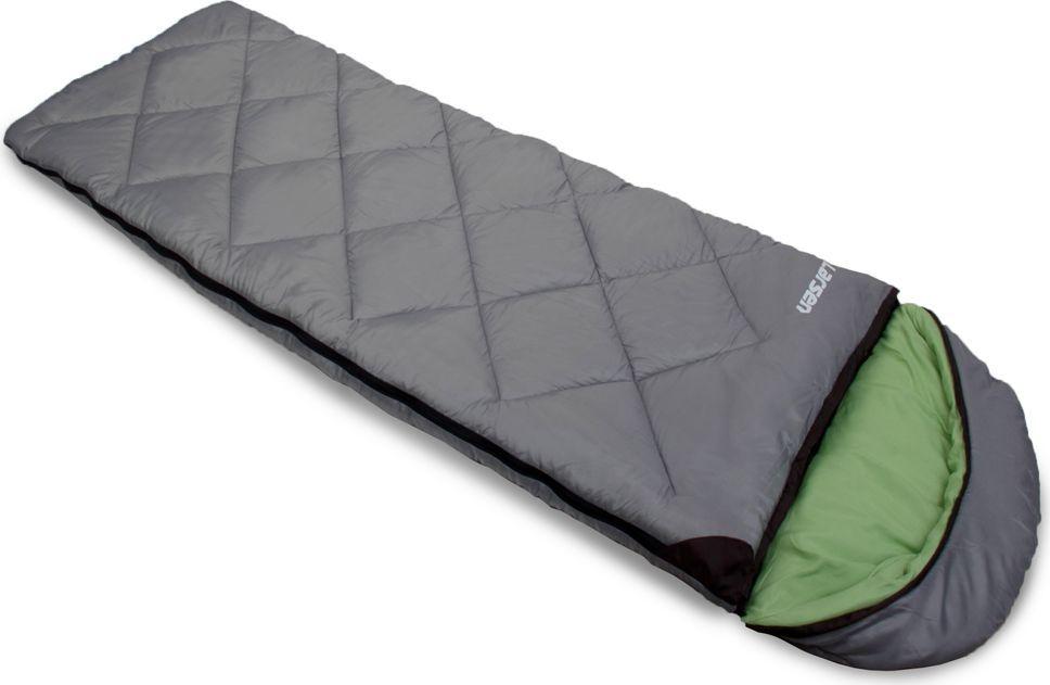 Спальный мешок Larsen RS 350L-2, левосторонняя молния + дополнительный замок, цвет: серый, зеленый, 180 х 40 х 75 см