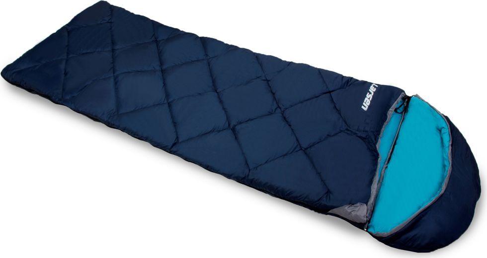 Спальный мешок Larsen RS 350R-1, правосторонняя молния, цвет: синий, голубой, 180+40 х 75 см мешок спальный onlitop богатырь правосторонняя молния цвет хаки 225 х 105 см