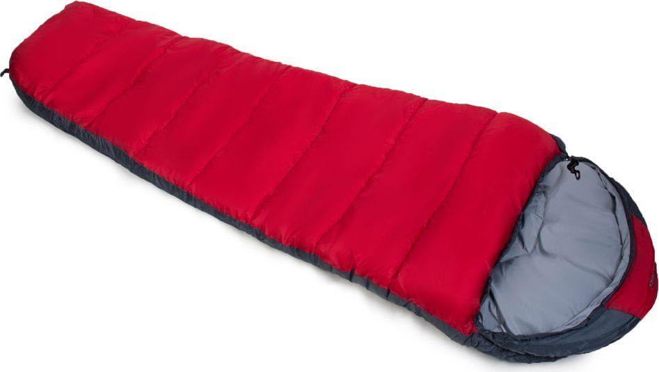 Спальный мешок Larsen RS 400L, левосторонняя молния, цвет: красный, серый, 230 х 80 х 55 см