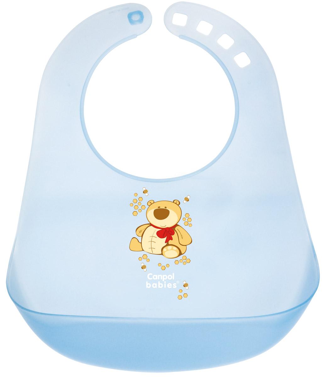Canpol Babies Нагрудник пластиковый цвет голубой