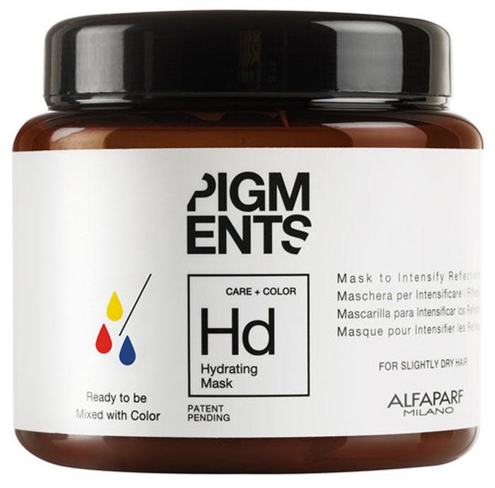 Alfaparf Pigments Hydrating Mask Маска увлажняющая для слегка сухих волос, 200 мл