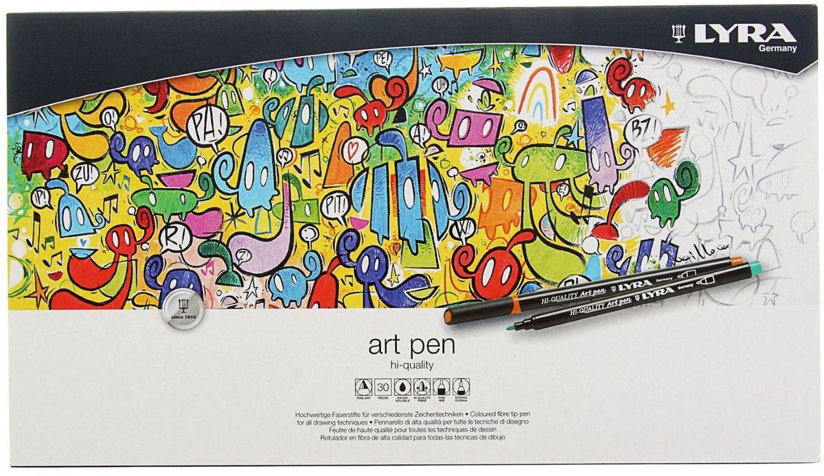 LYRA Набор фломастеров Hi-Quality Art Pen 30 цветов набор цветных фломастеров fibralo акварель 30 цветов
