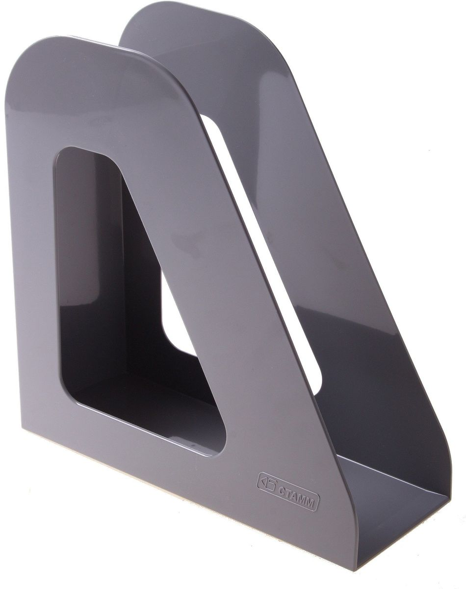 Стамм Лоток для бумаг вертикальный Фаворит цвет серый 584872 цена