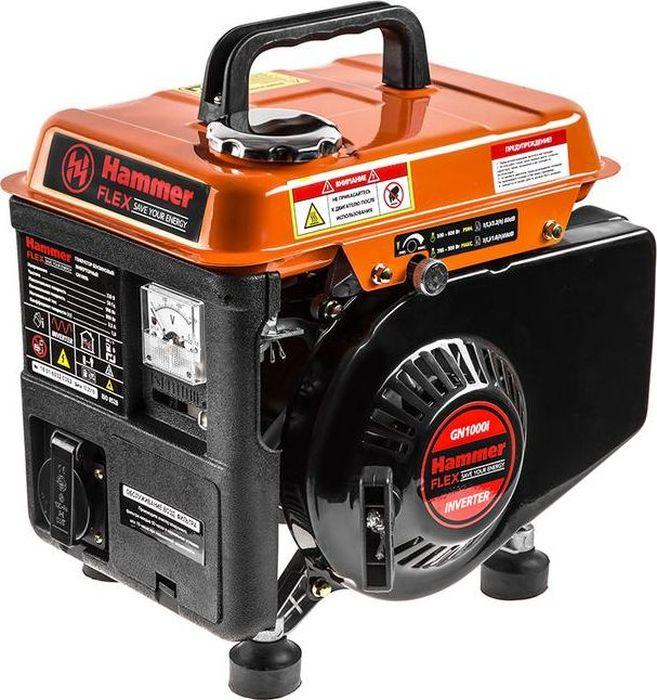 Бензоэлектростанция Hammer Flex GN1000i мотопомпа hammer flex mtp285 2 4 х такт 3 6 л с 500 л мин