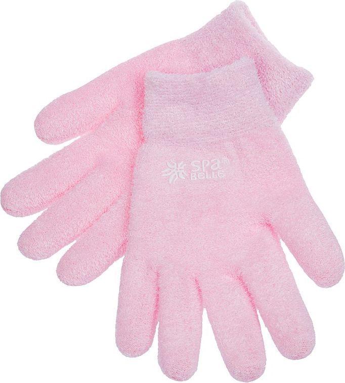 SPA Belle Увлажняющие гелевые перчатки с лавандой, цвет: розовый носки косметические spa belle парафиновые носки 5 применений
