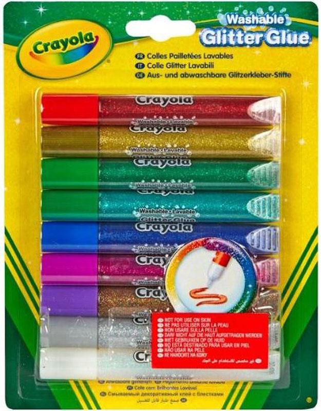 Crayola Клей с блестками 9 цветов crayola llc crayola oil pastels 28 color set set of 12