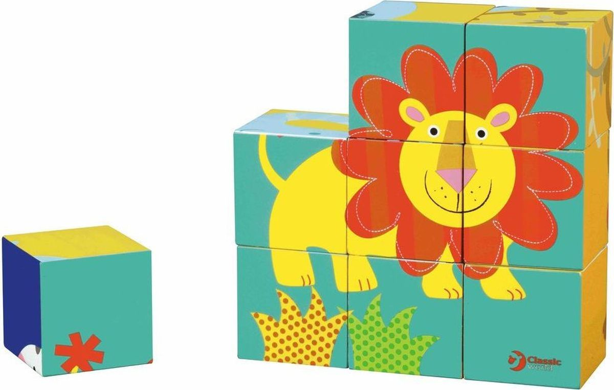 Classic World Кубики-пазлы Приключения в джунглях цена в Москве и Питере
