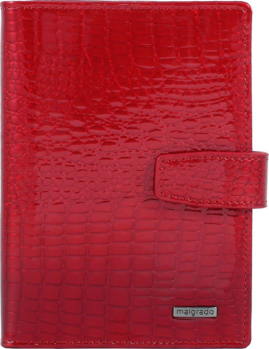 Обложка для документов женская Malgrado, цвет: красный. 54029-44 обложка для паспорта malgrado цвет красный 54019 1 44