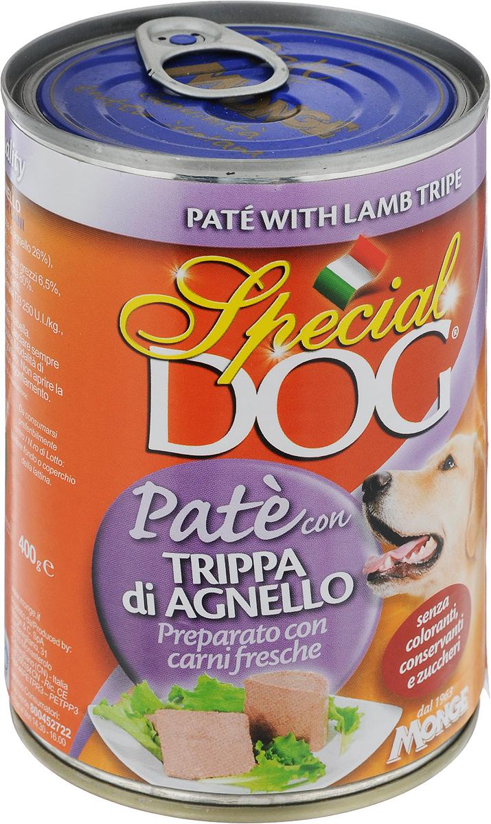 Консервы для собак Monge Special Dog, паштет с рубцом ягненка, 400 г консервы для собак monge fresh с ягненком 100 г